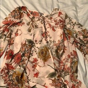 Flowered cardigan
